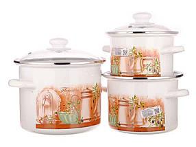 Набір емальованого посуду Idilia Флоренція 3 предмета 2л/3л/5,5 л (№15)
