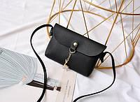 Женская повседневная мини сумочка с оленем через плечо/на плечо, черная