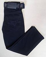 Детские школьные джинсы для мальчиков 10-13 лет темно-синие