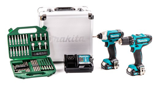 Набор инструментов MAKITA DF331D + TD110D + набор бит HITACHI 42 элемента
