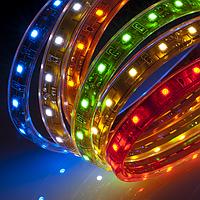 Светодиодная лента 3528, 12В, 5м, герметичная, желтая, синяя, зеленая, красная