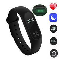Watch M2 black фитнес-браслет с пульсометром копия Xiaomi Mi Band 2, фото 1