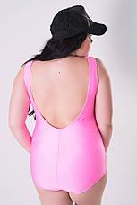 Купальник великих розмірів Ананас рожевий, фото 3