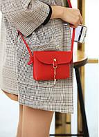 Женская маленькая повседневная сумка с оленем через плечо/на плечо, красная