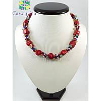 """Копія Эксклюзивное ожерелье """"Вышиванка 2"""", Изысканное ожерелье из натурального камня, Ожерелье в вышиванки"""