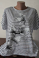 Блуза полоска завязки 3