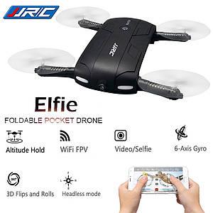 JJRC H37 ELFIE складной радиоуправляемый селфи дрон квадрокоптер с камерой