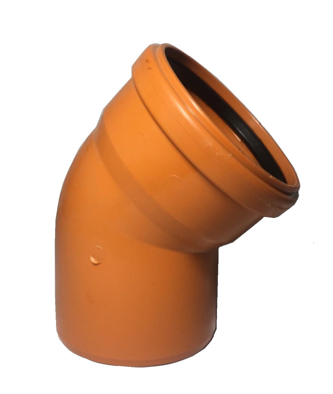 Пвх отвод для наружной канализации 250*45