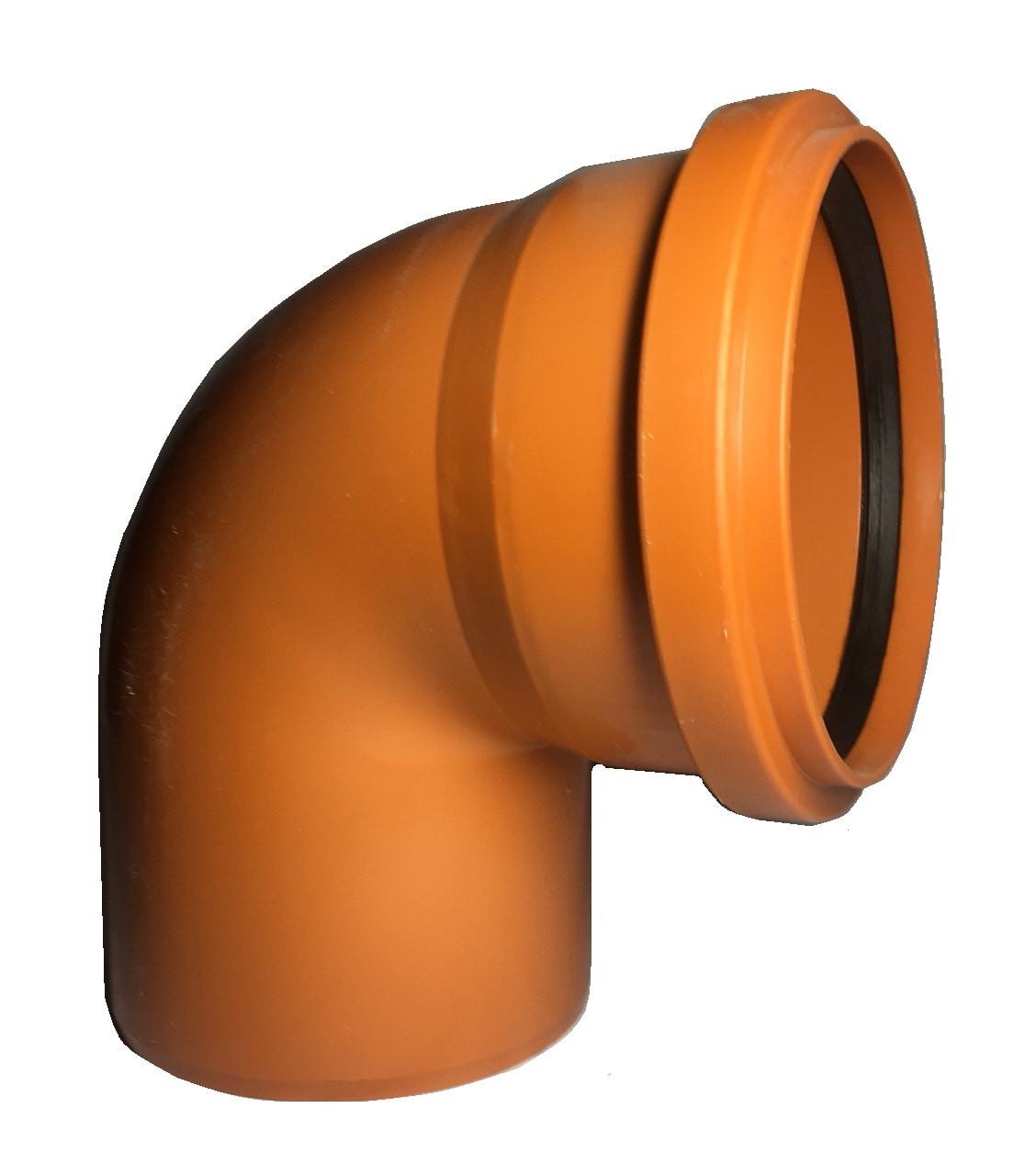 Пвх отвод для наружной канализации 250*90