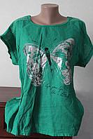 Блузка лен бабочки