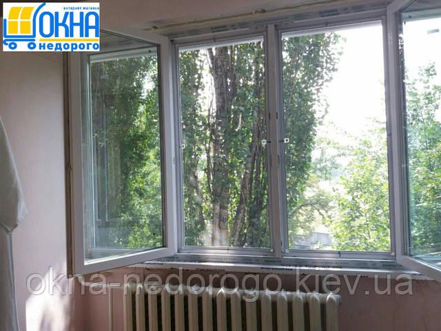 Застеклить балкон в Киеве - фото фирмы Окна Недорого