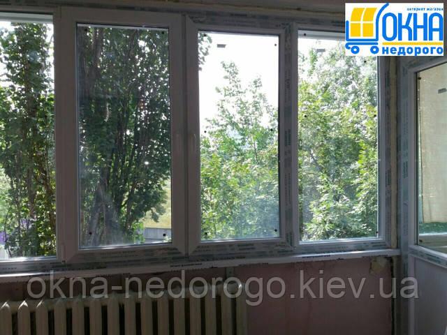 Застеклить балкон в Киеве - профиль Salamander