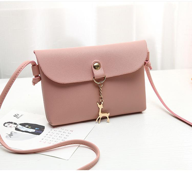 adb8be59992e Женственная классическая мини сумка с оленем через плечо/на плечо, розовая  - Интернет магазин
