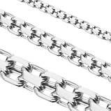 Цепь серебряная плетение Двойной Якорь или Кобра от 60 грамм, фото 2