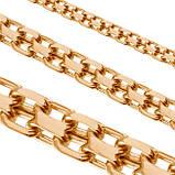 Цепь серебряная плетение Двойной Якорь или Кобра от 60 грамм, фото 3