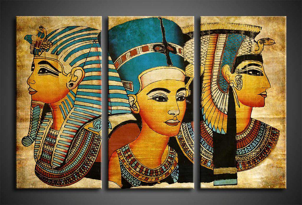 Картина модульная из стекла - 3 части - равные сегменты - египет