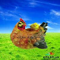 Садовая фигура Курица с цыпленком 35 см.