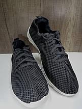 Летние мужские кроссовки серого цвета,текстиль + сетка, фото 3