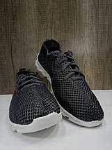 Летние мужские кроссовки серого цвета,текстиль + сетка, фото 2