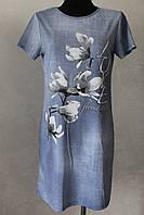 Платье женское джинс магнолия, фото 1