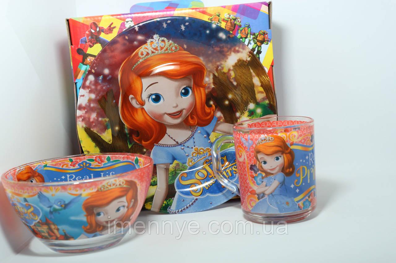 Оригинальный подарок ребенку набор посуды софия прекрасная
