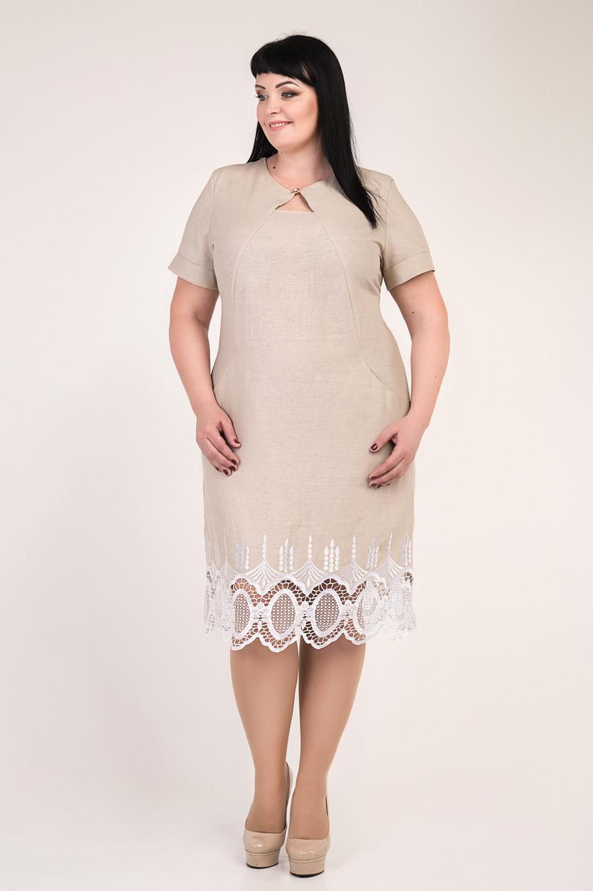 Платье из льна большого размера с 56 по 62 размер 4цвета