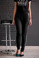 Трикотажные спортивные штаны с лампасами Код:698556943