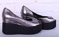 Туфли летние на платформе натуральная кожа, фото 1