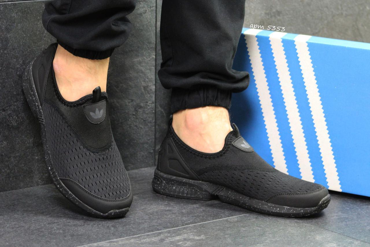 Мужские кроссовки Adidas летние черные (Реплика ААА+) - bonny-style в  Хмельницком 1fdbc6104fc62