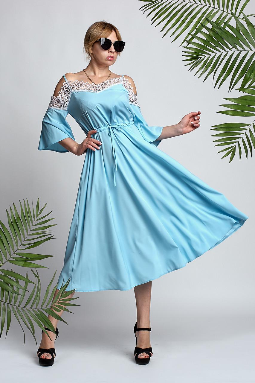 94d82c83661c8ab Женское платье Анабель красивое, летнее, повседневное размеров 42, 44, 46,  48