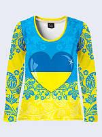Лонгслив Украинское сердце