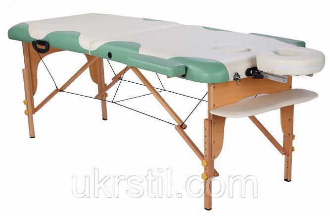 Стол деревянный MIRACLE PLUS cream/green