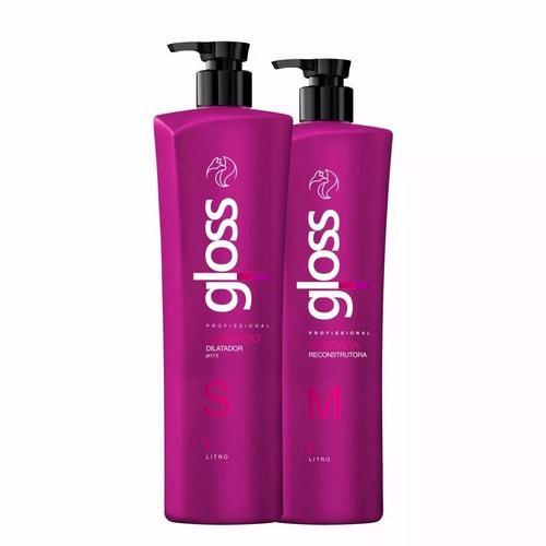 Fox Gloss Набор для кератинового выпрямления волос 2х1000 мл