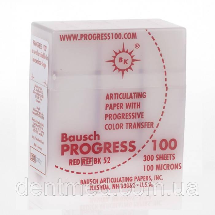 BK 52 артикуляционная бумага 300 листов красная 100 мкм  NaviStom