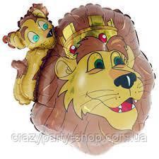 Шарик фольгированный минифигура Король Лев