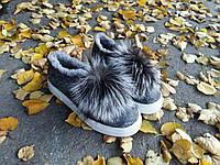 Слипоны-валеночки с подкладкой из набивной шерсти, фото 1