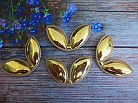 "Патчи ""Ушки"", цвет золото, 60х35 мм, 1 шт."