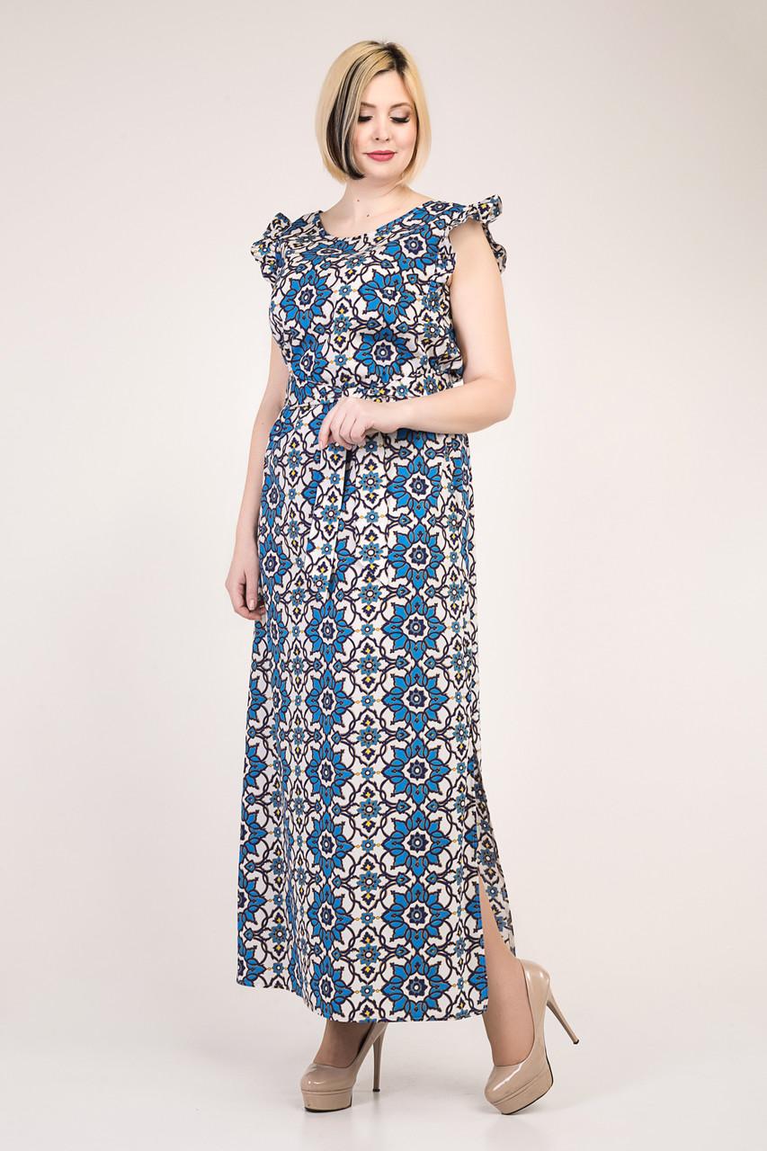 Летнее платье из коттона с 50 по 56 размеры 2цвета