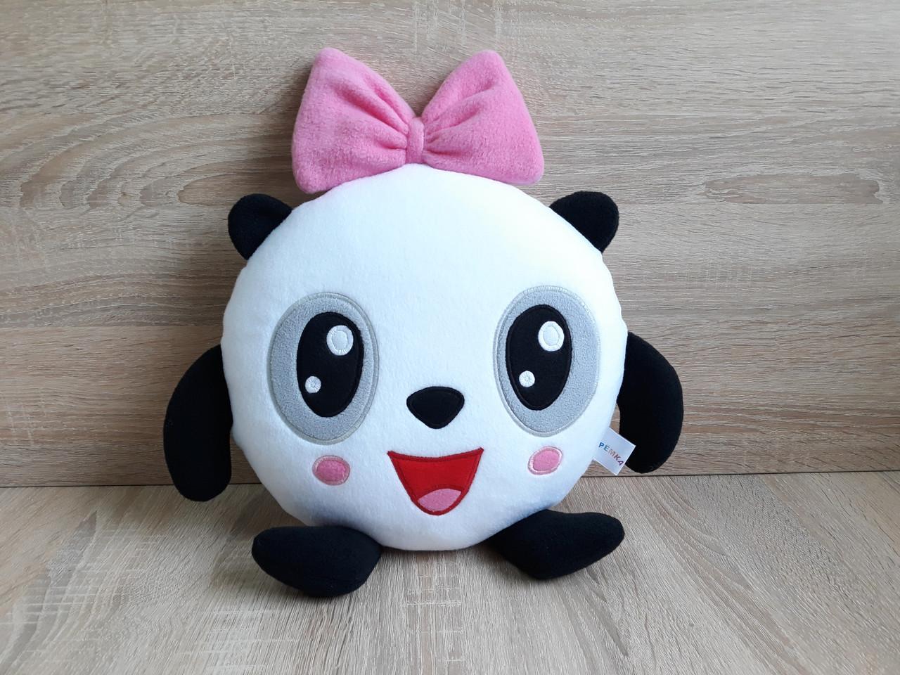 Мягкая игрушка - подушка ручной работы Пандочка из мультсериала Малышарики