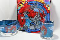 Комплект посуды трансформеры на подарок ребенку, фото 1