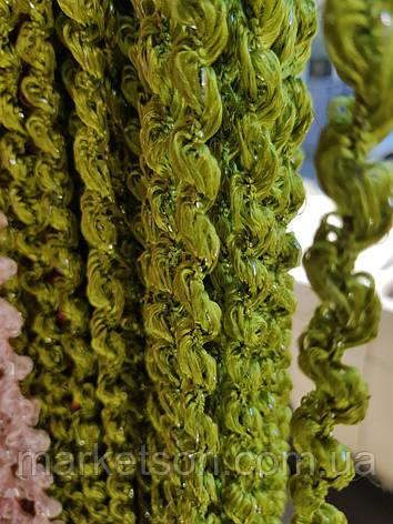 Шторы нити спирали, лапша, макароны с люрексом, фото 2