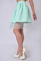 Легкая летняя юбка - колокол с фатином на змейке (взрослые и детские размеры)