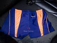 Стильные плавки-шорты для мальчика с оранжевыми вставками