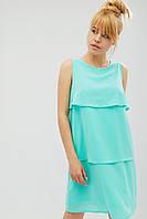 Креп-шифоновое женское платье с тремя слоями-воланами (Scale crd)