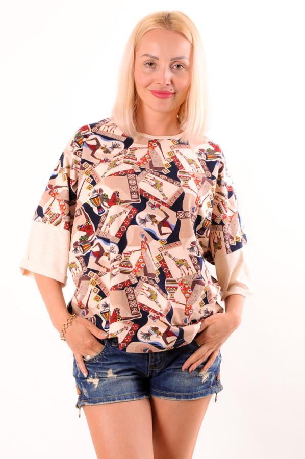 Женская футболка  оверсайз  Afrika размеры 40-46
