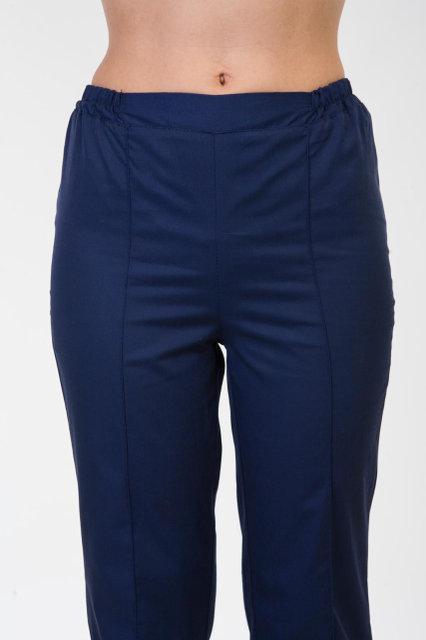 Практичные медицинские штаны синего цвета увеличенных размеров