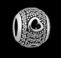 Шарм серебряный с камнями