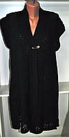 Женская длинная жилетка сеточка