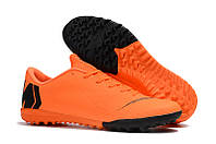 Футбольные сороконожки Nike Mercurial VaporX XII Academy TF Total Orange/Black/Total Orange/Volt, фото 1