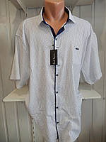 Рубашка мужская Paul Smith супербатал, короткий рукав, стрейч, заклёпки 20.05.2018№1 010\ купить рубашку